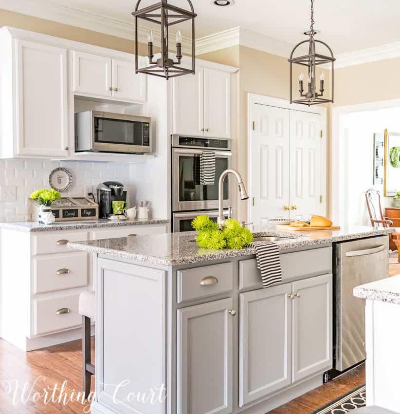 All White Kitchen Island