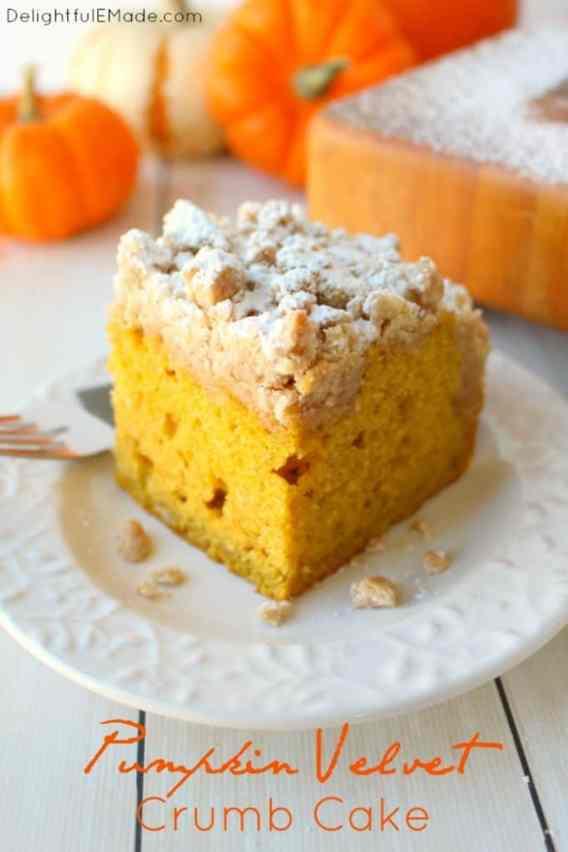Pumpkin Velvet Crumb Cake