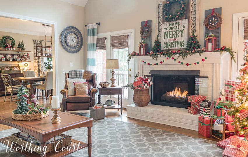 My Cozy Farmhouse Christmas Family Room Worthing Court