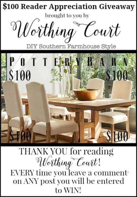 Pottery Barn Gift Card Giveaway || Worthing Court