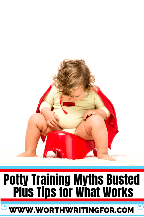 Potty training myths busted! Plus potty training tips for what does work with toddlers.