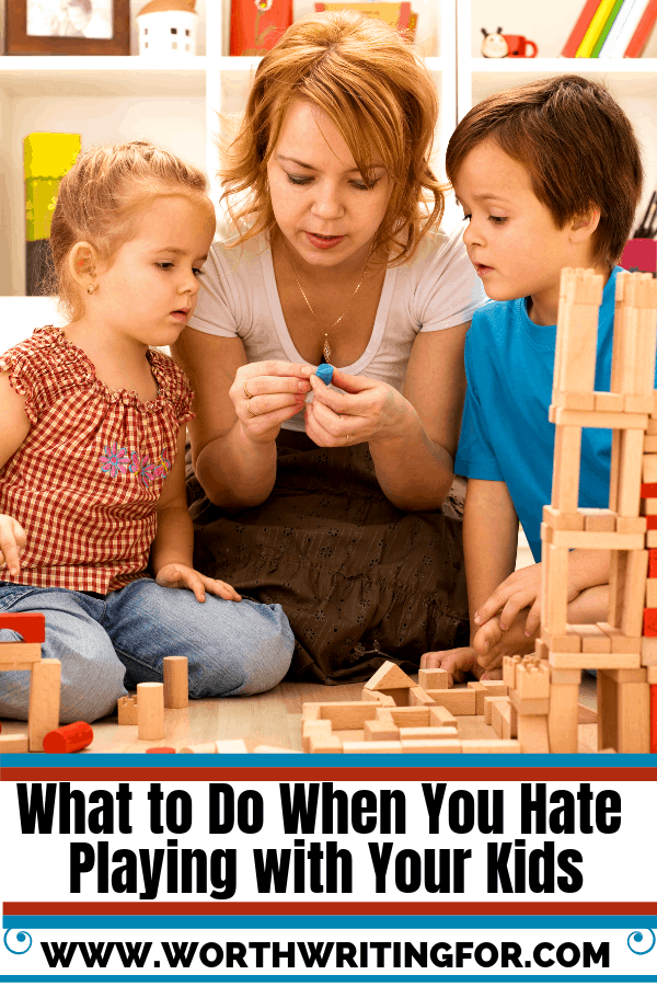 Hate playing with your kids? You're not alone. And you're still a great mom! Check out these tips for when you're sick of playing with your kids but still want to spend time with them.