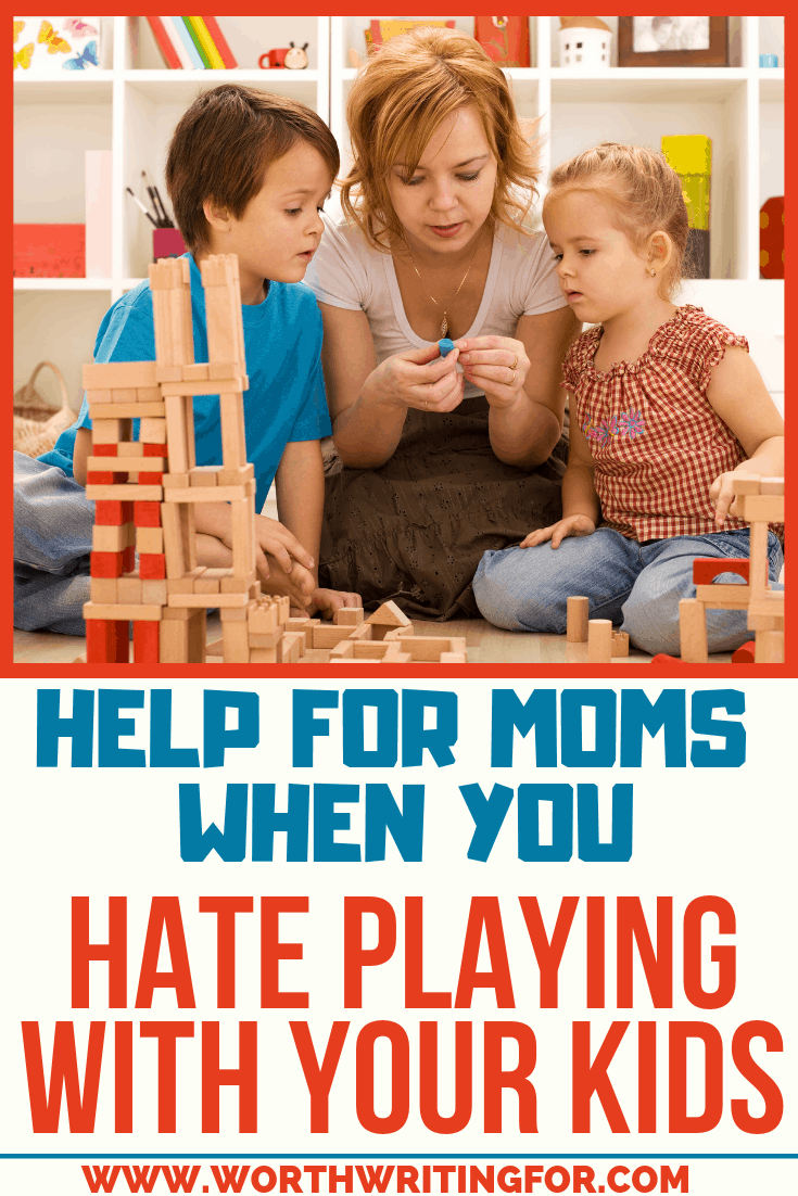 Hate playing with your kids? Check out these tips to help moms when you're tired of playing with your kids but still want to spend time with them.