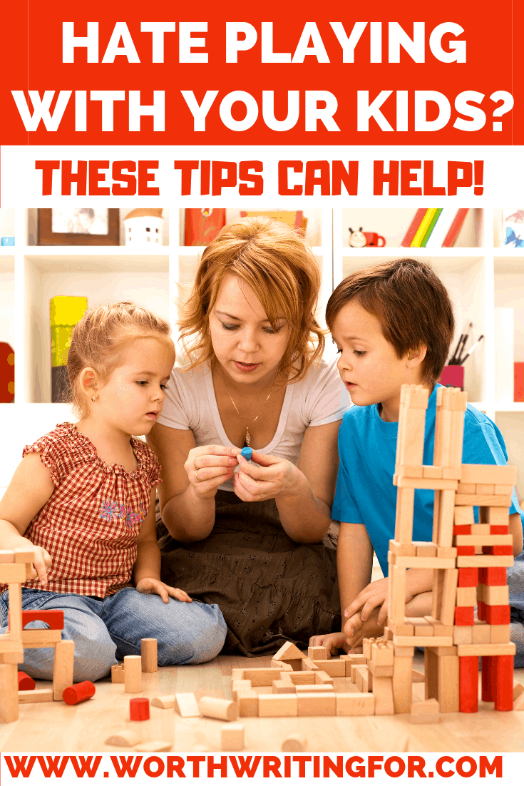 Tired of playing with your kids? Spending time with kids is important but it's normal to get tired of playing with your kids all day. Check out these tips for when you're sick of playing with your kids but still want to spend time with them .