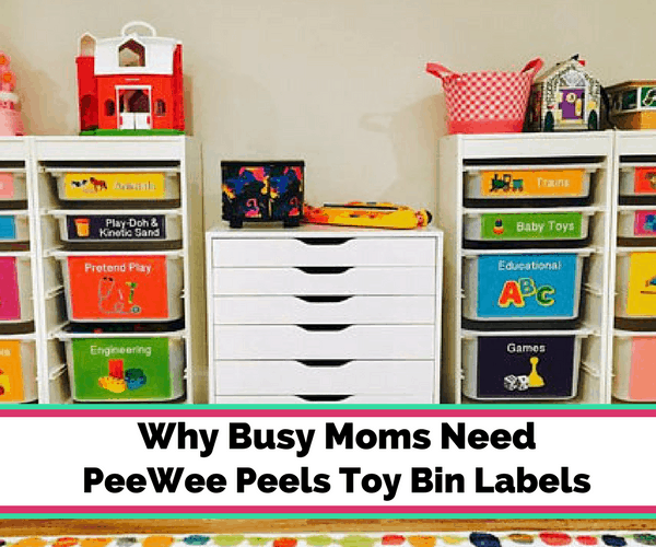 Organizing Toys & Teaching Kids to Clean Up with Toy Bin Labels