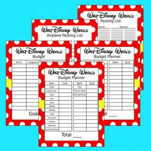 Disney Printables for Planning Disney Trip