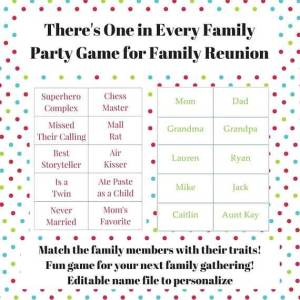 family reunion party game