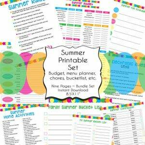 Summer Organization Printables