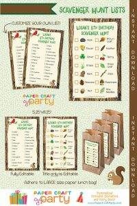 Nature Scavenger Hunt Printable Activity for Kids