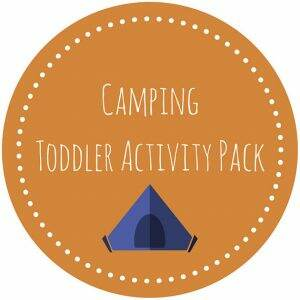 Camping Toddler Activity Pack of Printables