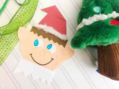 elf holiday craft for kids