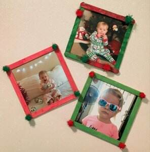popsicle stick Christmas craft for toddlers