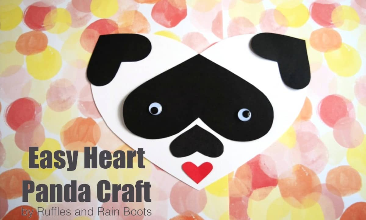 Heart Panda Valentine's Craft for Toddlers & Preschoolers