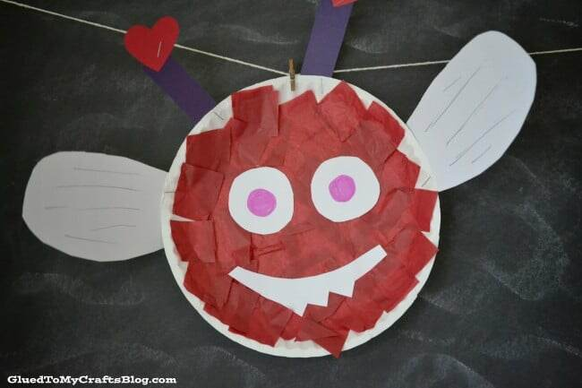 Kids Paper Plate Valentine Craft