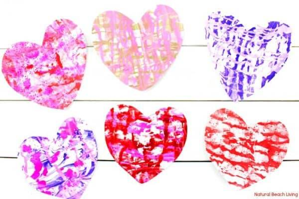 Shaving cream valentines craft for preschoolers