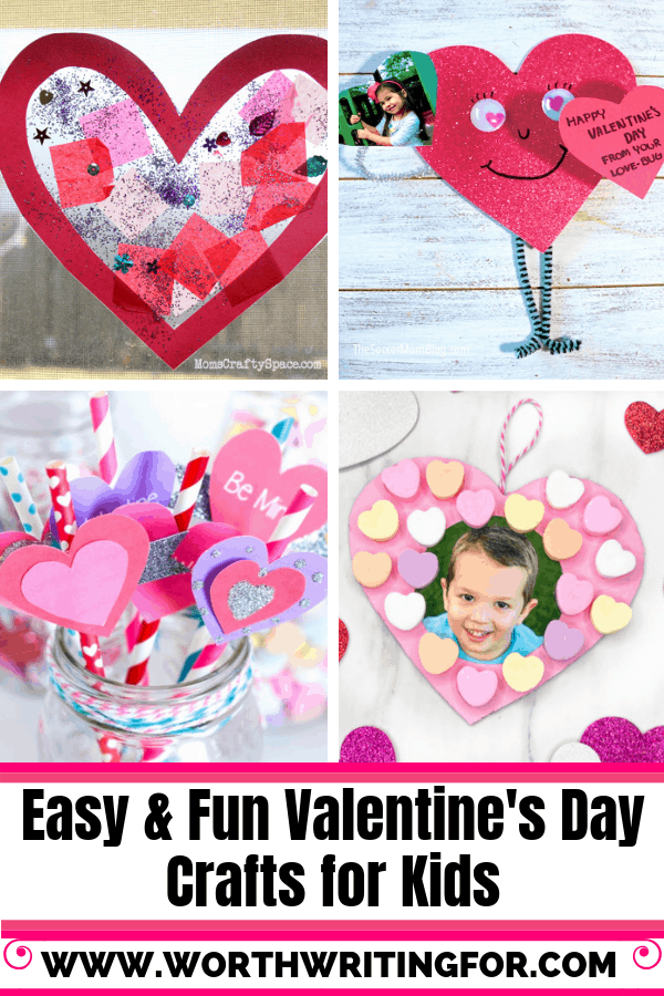 Valentine's Day crafts for kids! Easy & fun Valentine's Day craft ideas for toddlers, preschoolers, and school age kids too!