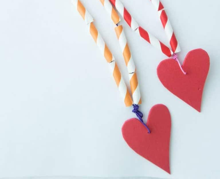 Heart craft for Valentine's day with kids