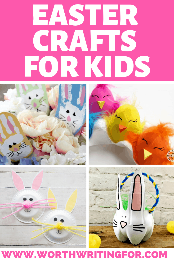 Easter crafts for kids! 21 Easter craft ideas and Easter activities for kids! Make some kids crafts during spring break from school or before the Easter weekend!