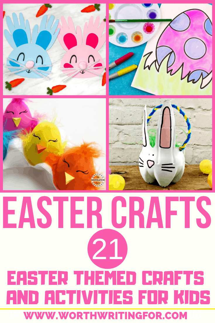 21 Easter crafts for kids! Easter craft ideas and activities for kids they'll love to create! Check them out here!