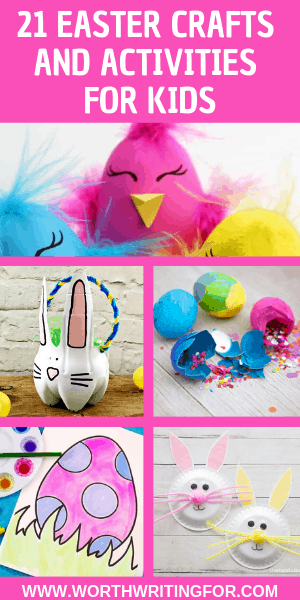 21 Easter crafts & activities for kids! Great activity ideas for spring break and to celebrate Easter with your kids.