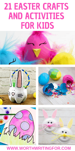 21 Easter craft ideas for kids! Easter crafts and Easter activities from bunny crafts to egg decorating ideas perfect for kids from toddlers to tweens. Check them out!