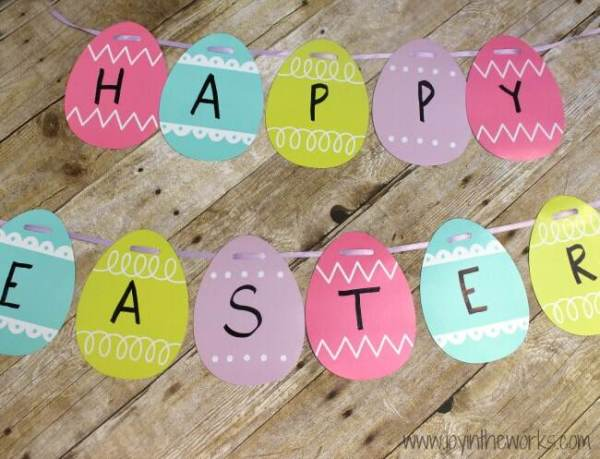 DIY Easter banner for kids