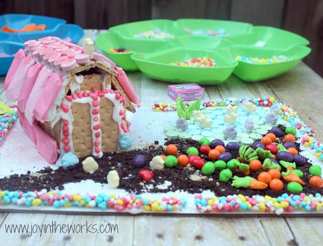 Easter graham cracker barn