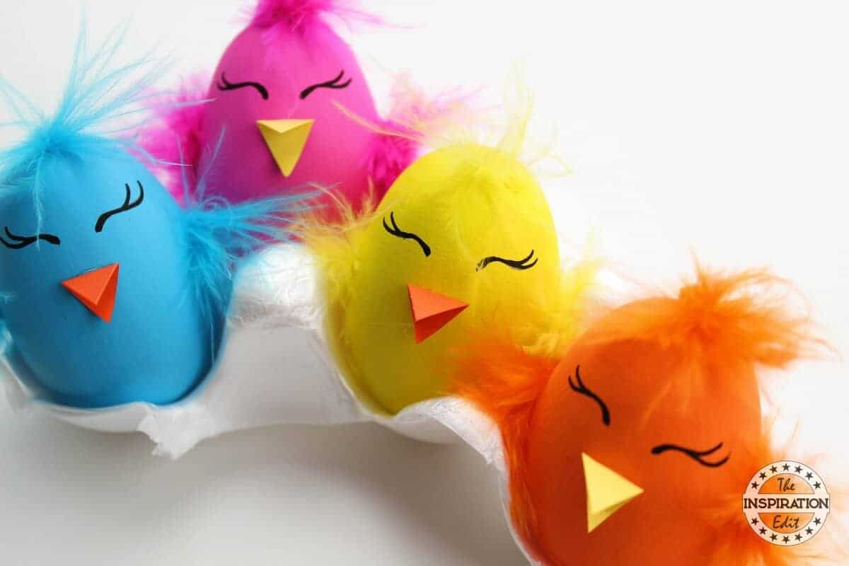 Funky chick Easter craft for kids