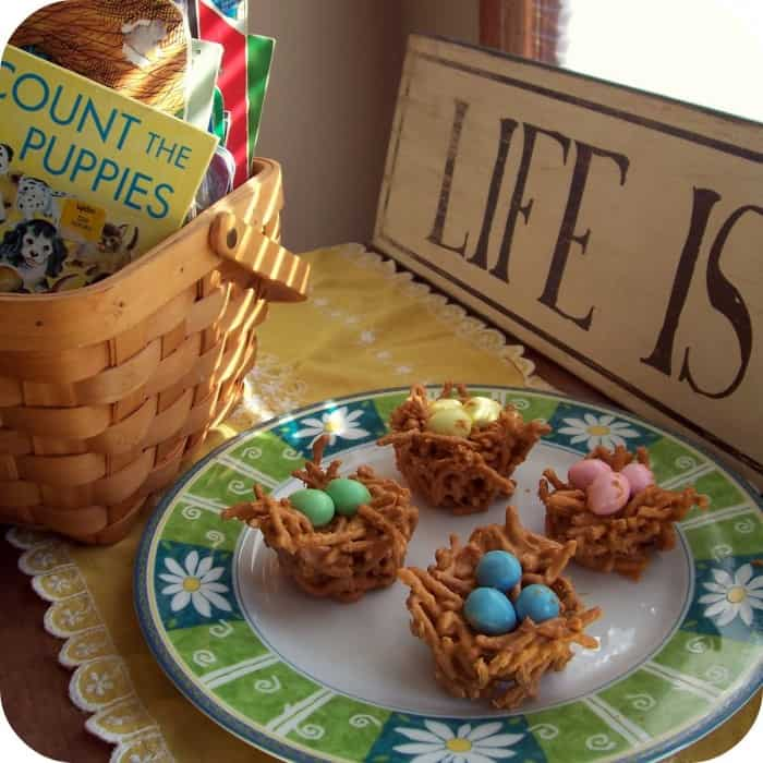 Easter treat nests for kids