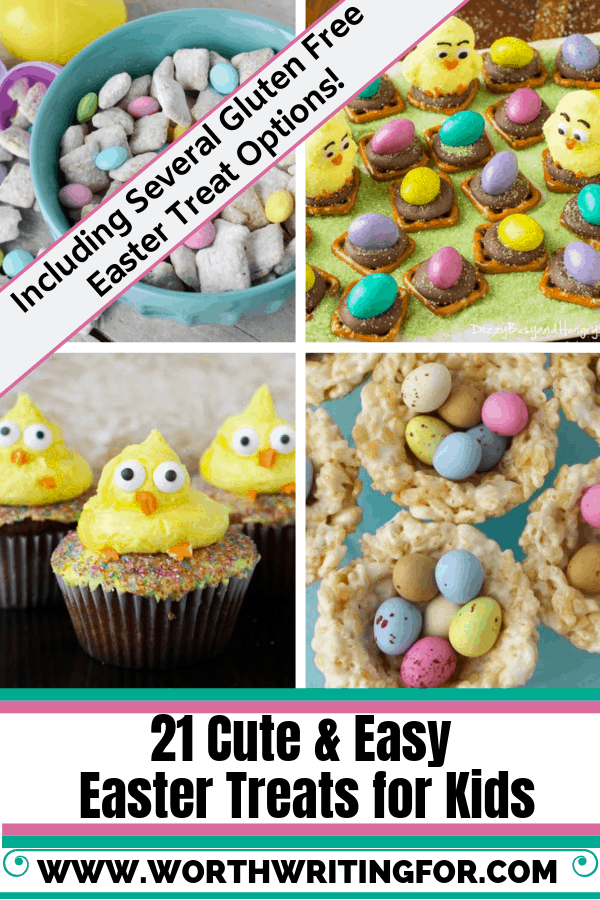 21 Cute & Easy Easter Treats for Kids! Make these fun Easter desserts with your kids this year! Several options for gluten free Easter treats as well!