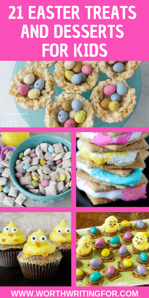21 Easter desserts and treats for kids! Make something fun & sweet with your kids this Easter! Gluten free dessert options included on the list.