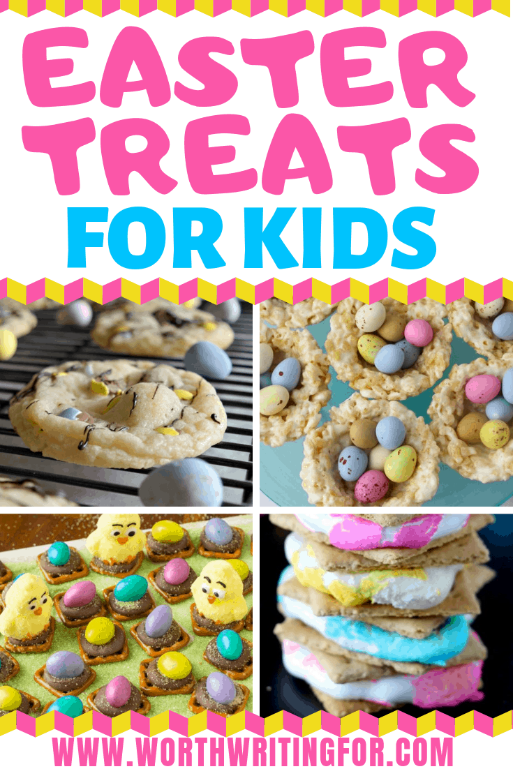 Easter treats for kids! Make these fun Easter desserts with your kids and enjoy them together! List includes some gluten free Easter treats as well!