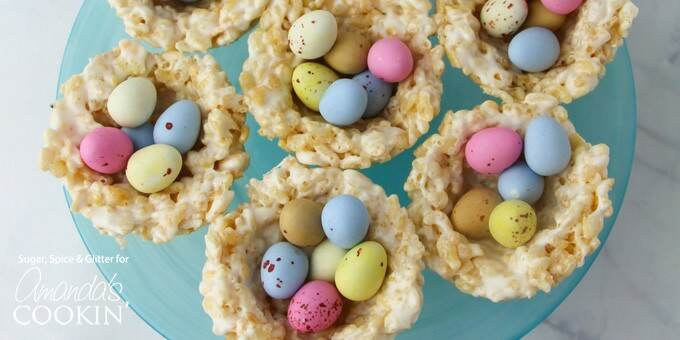 Rice Krispie nests Easter treats