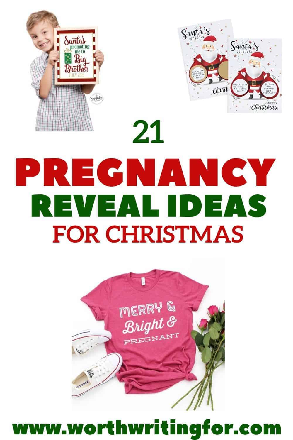 ideas for holiday pregnancy announcement