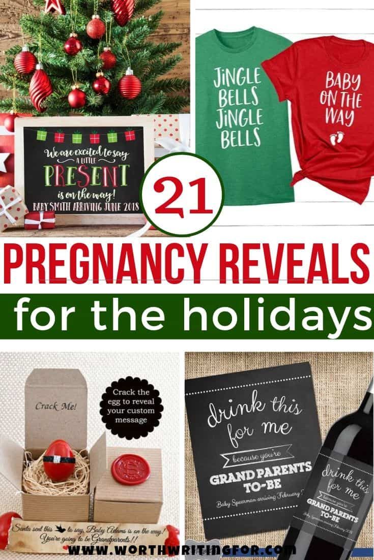 reveal pregnancy at christmas