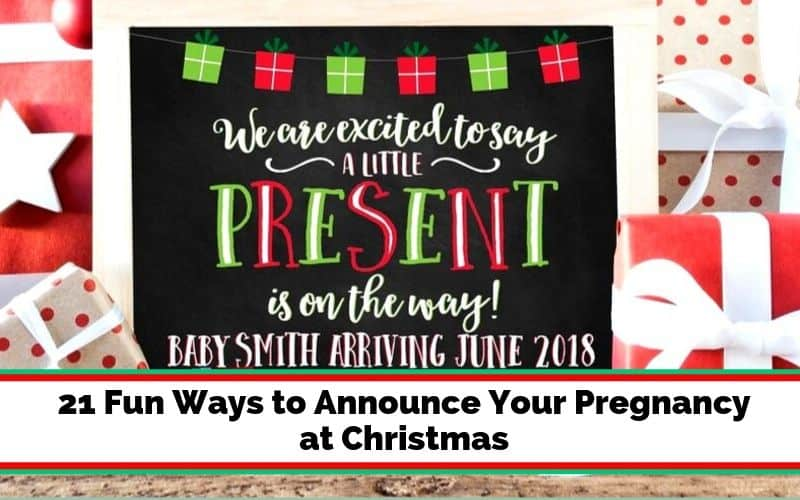Ideas to announce pregnancy on Christmas