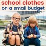 school clothes on a budget