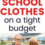 budget for school clothes