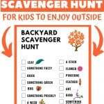 printable nature hunt for kids