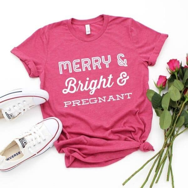 Christmas Pregnancy Announcement Shirt