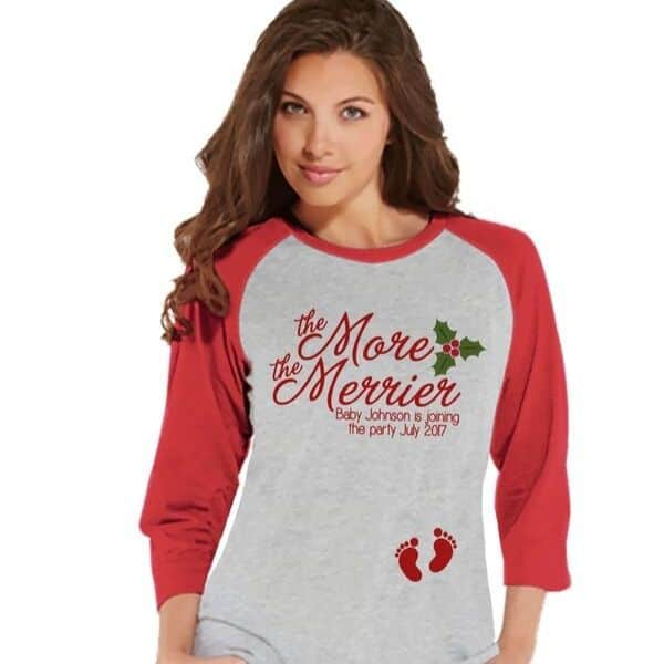 custom Christmas Pregnancy Reveal Shirt