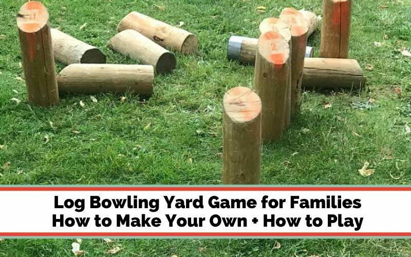 log bowling family lawn game