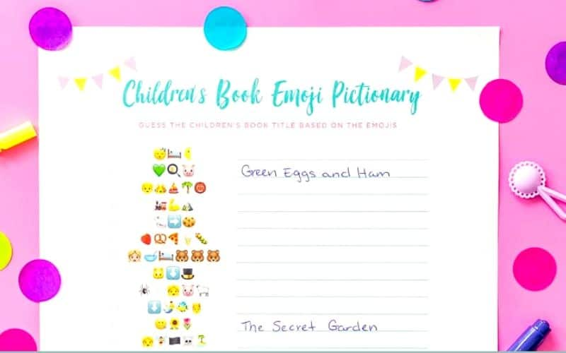 Emoji Printable Baby Shower Game