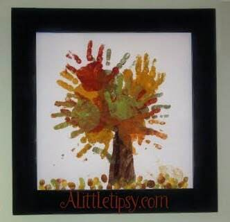 fall craft fingerpainting