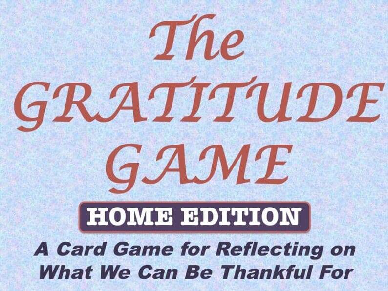 gratitude game for thanksgiving