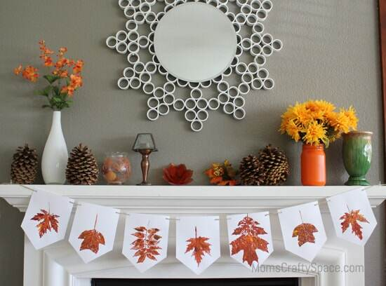 leaf banner craft for kids in the fall