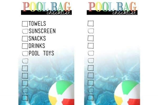 summer printable pool tag