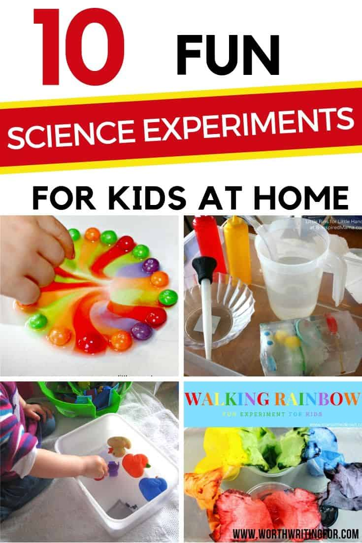 science experiments for toddlers