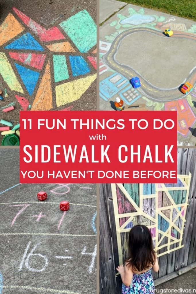 sidewalk chalk activities for kids