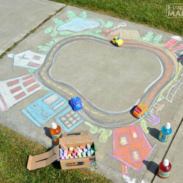 sidewalk chalk idea for kids